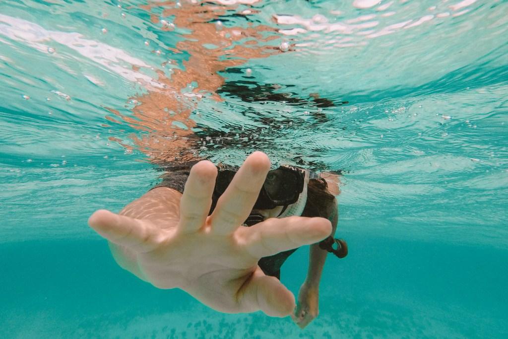Snorkling Hopkins | Belize The Orange Backpack
