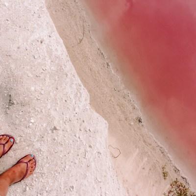 Pink Lakes Las Colorads | Rio Lagartos Yucutan Mexico | The Orange Backpack