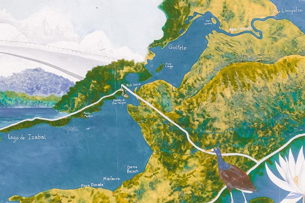 map Rio Dulce Guatemala   The Orange Backpack
