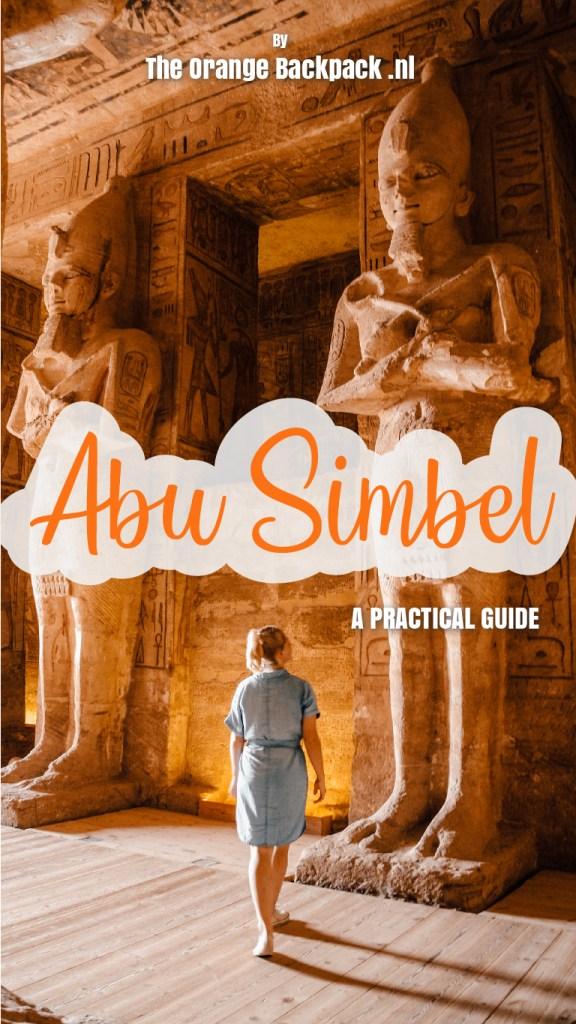 Rock temple Abu Simbel in Egypt The Orange Backpack