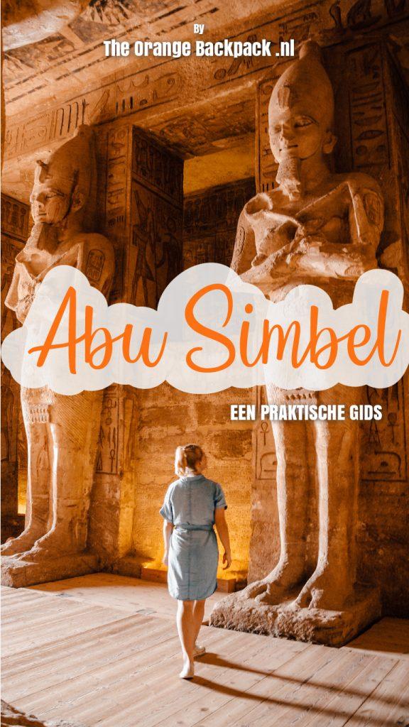 Rotstempel Abu Simbel in Egypte The Orange Backpack