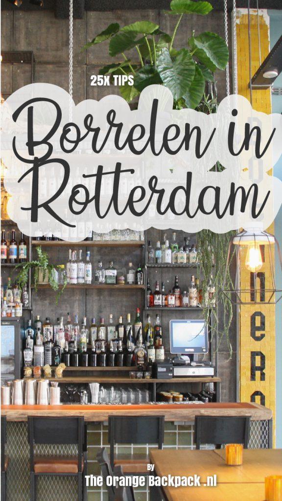 Borrelen in Rotterdam Nederland The Orange Backpack