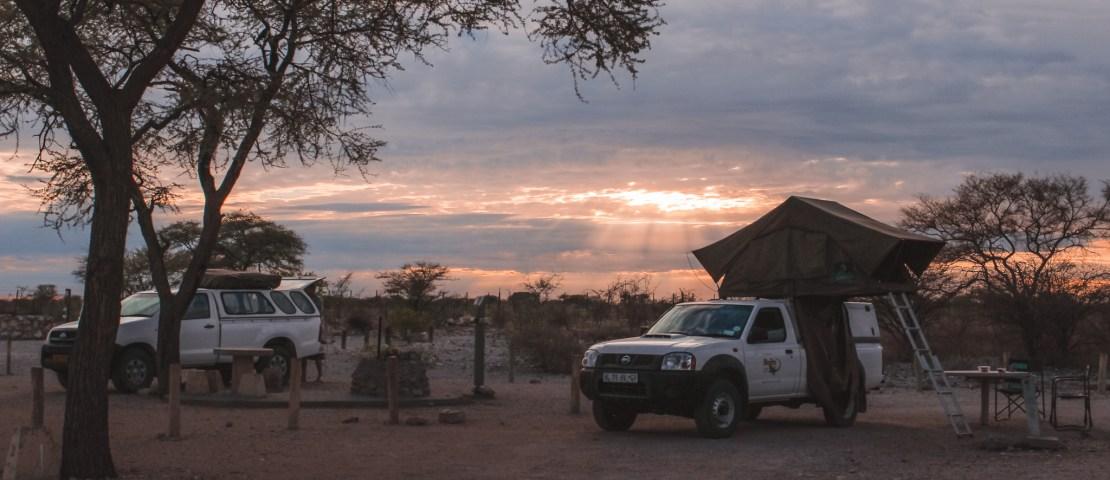 Kamperen in Etosha National Park in Namibie | Camping in Etosha National Park Namibia