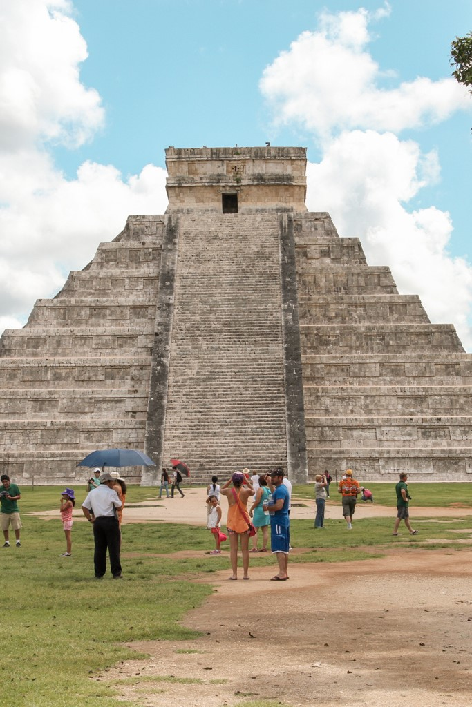 Verloren stad Chichen Itza Yucatan Mexico