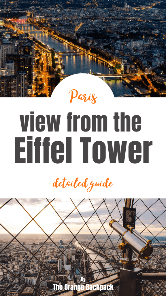 View from the Eiffel Tower top in Paris