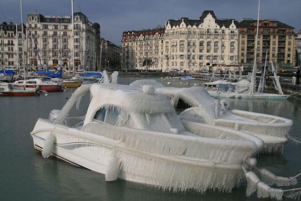 Genève boten winter | Beste stad van Europa om in de winter te bezoeken