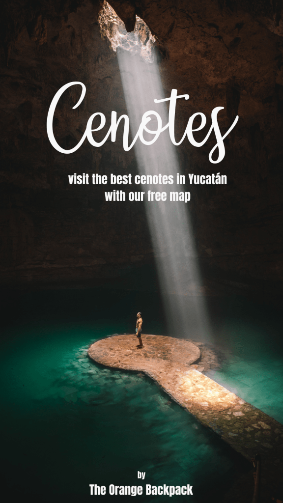 best cenotes in yucatan on a map