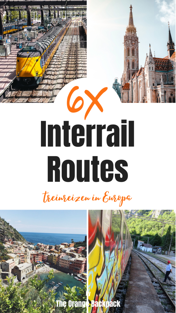Interrail Routes in Europa