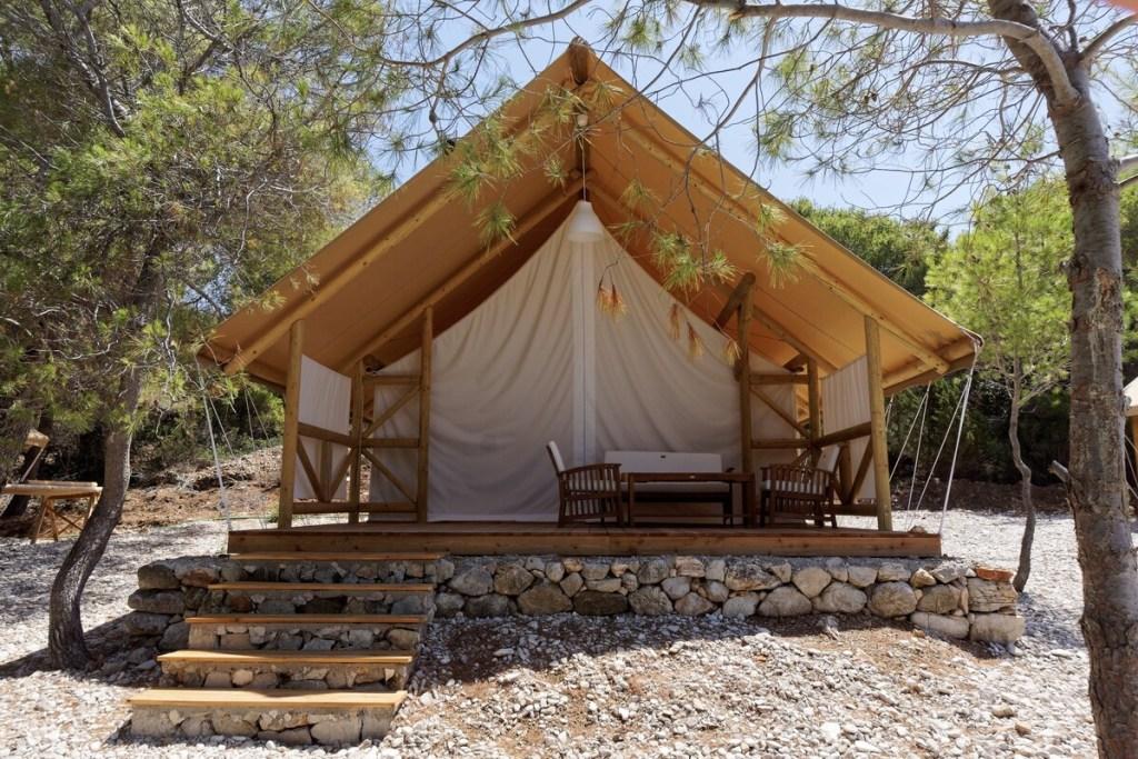 Glamping eiland Airbnb kroatie