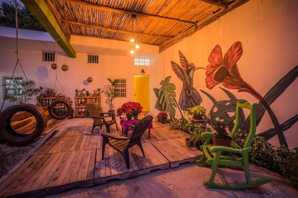 Ts'unu'um hotel Bacalar Airbnb