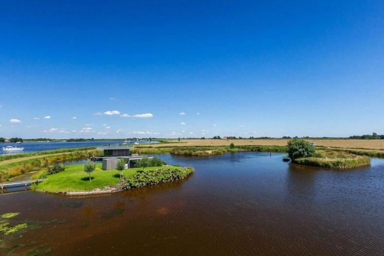 watervilla in Friesland