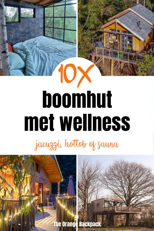 luxe boomhut met jaccuzzi hottub of sauna wellness