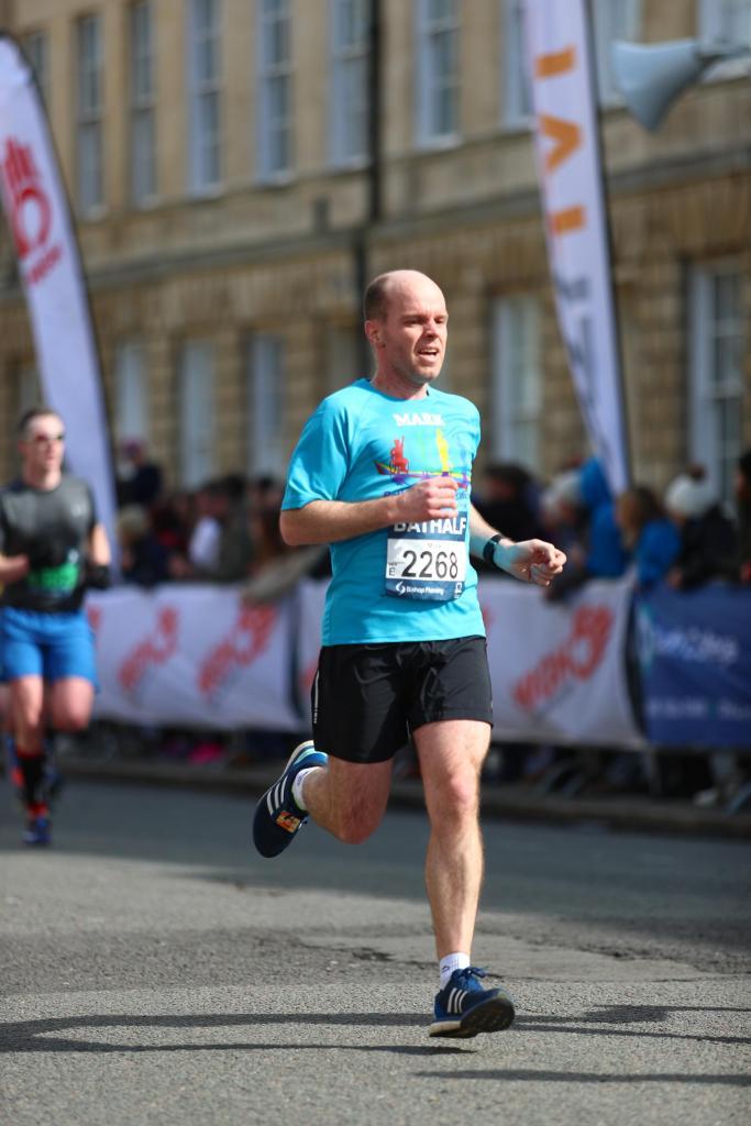 Man running a half marathon