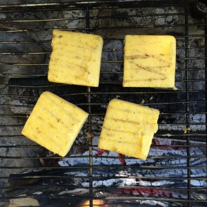 Campfire Polenta Cakes -- The Organic Beauty