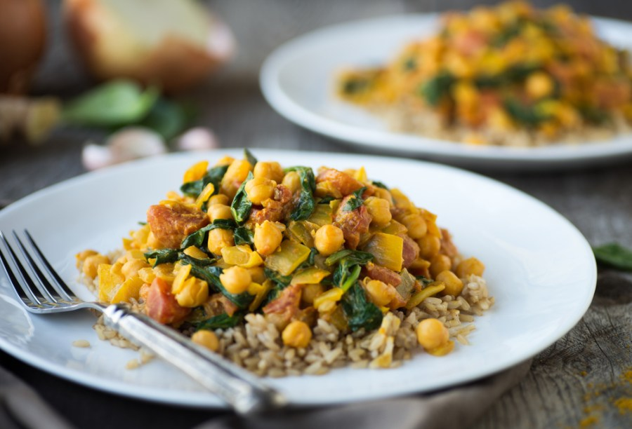 Vegan Coconut Curry with Spinach | The Organic Beauty Blog