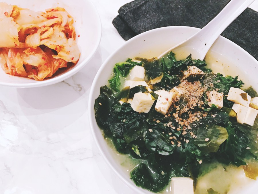 10-Minute Miso Soup with Tofu & Kale | The Organic Beauty Blog
