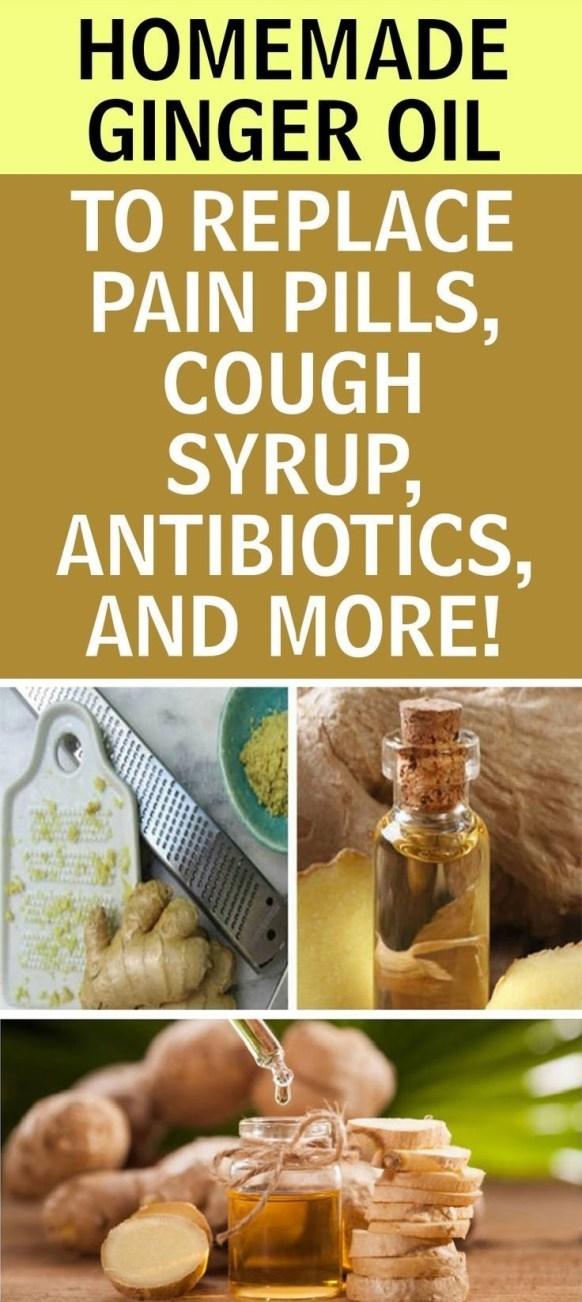 ginger oil recipe for pain