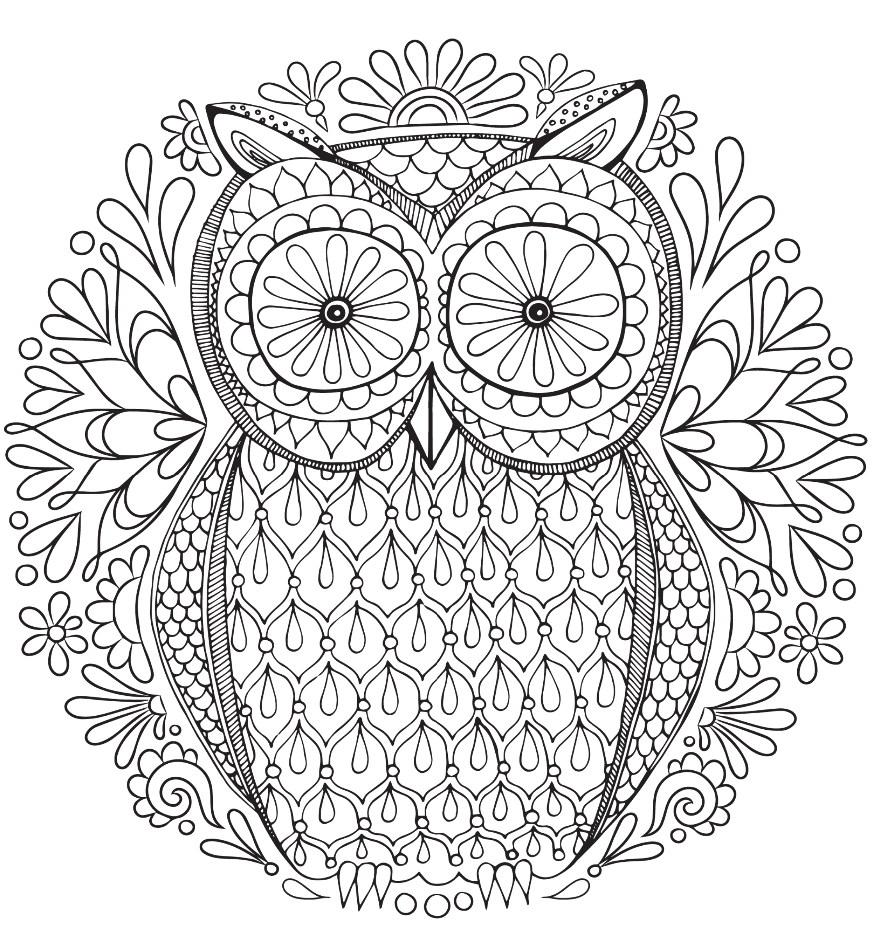 20+ Free Adult Colouring Pages - The Organised Housewife | free online coloring pages for adults animals