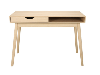Oak Look Single Drawer Desk