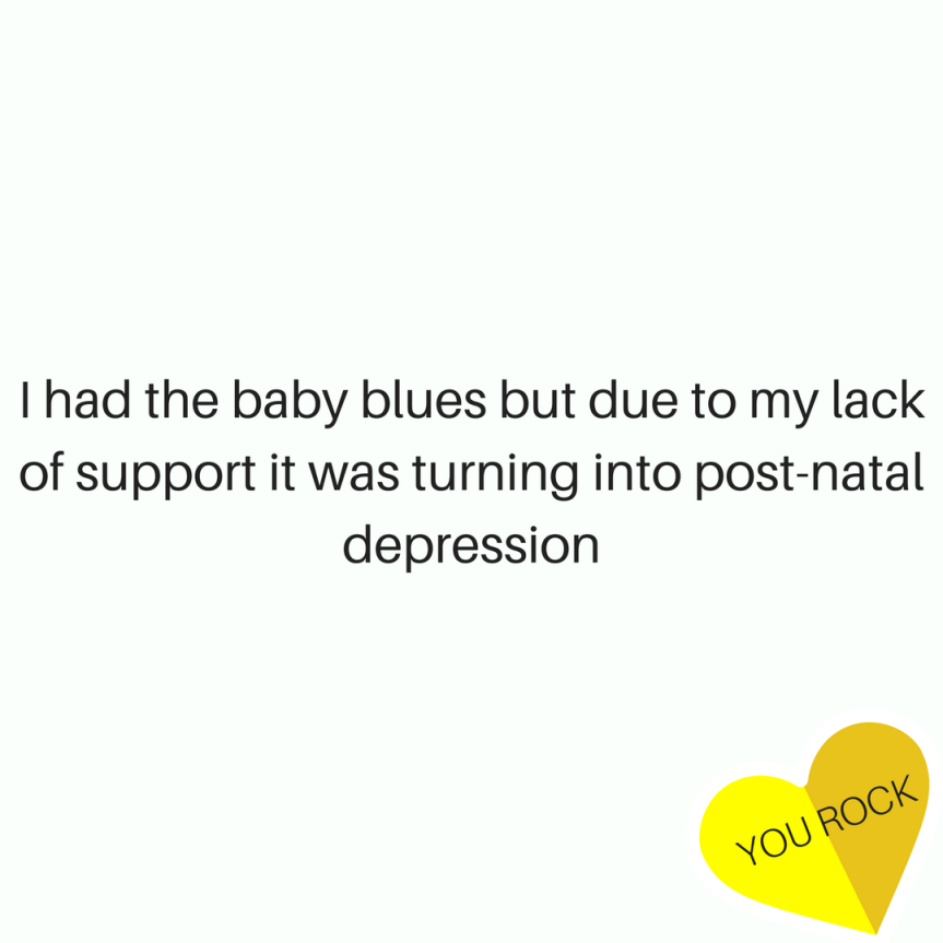 Roxie's Story: I had the baby blues but due to my lack of support it was turning into post-natal depression (by Roxanne Judd)