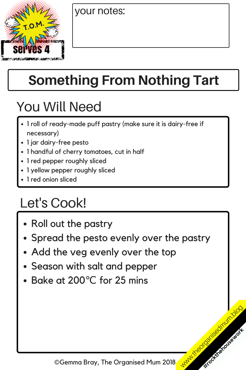 something from nothing tart