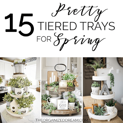 15 Pretty Tiered Trays for Spring
