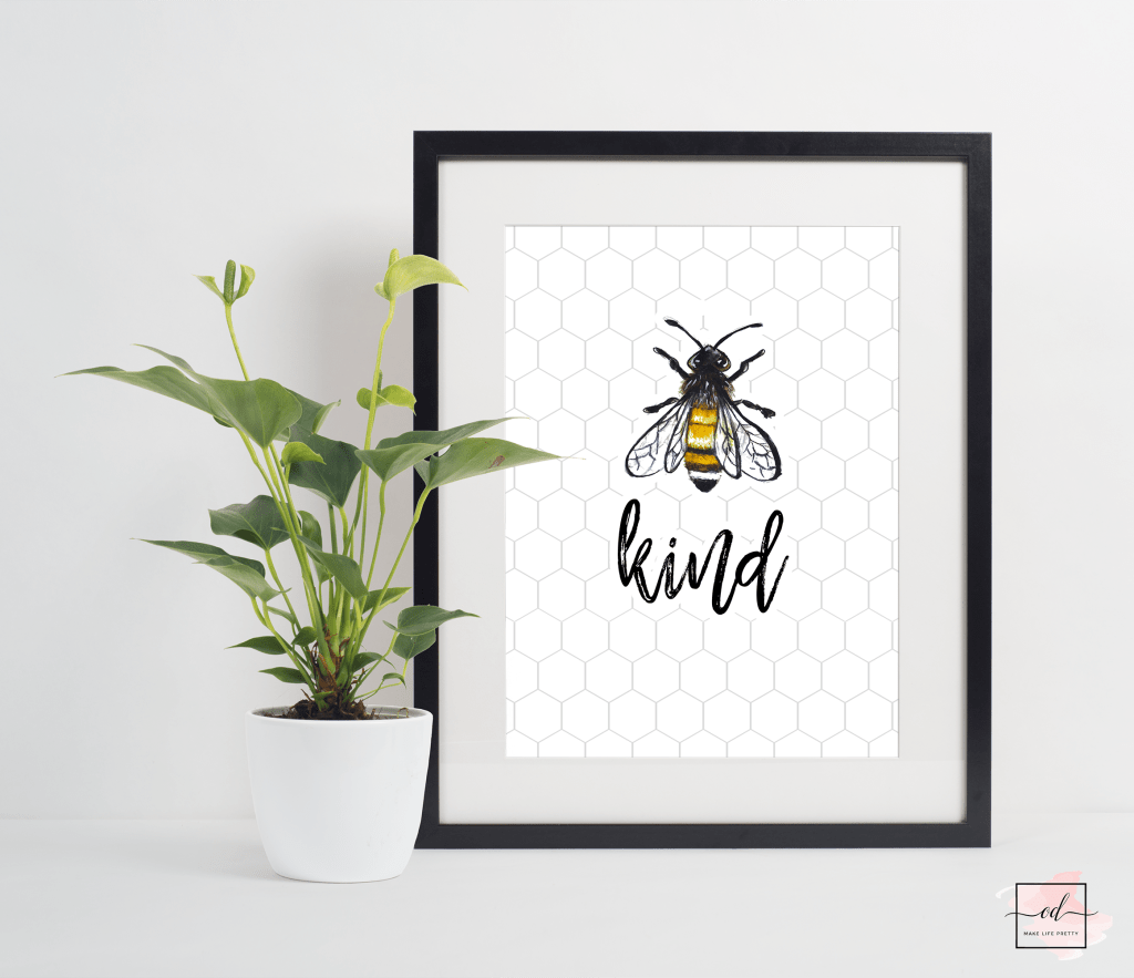 Free Farmhouse Bee Printables