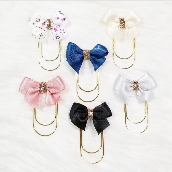 Glam Bow Planner Clips