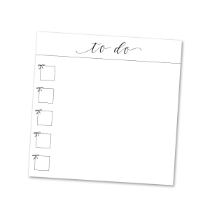 Bow Checklist Sticky Notes