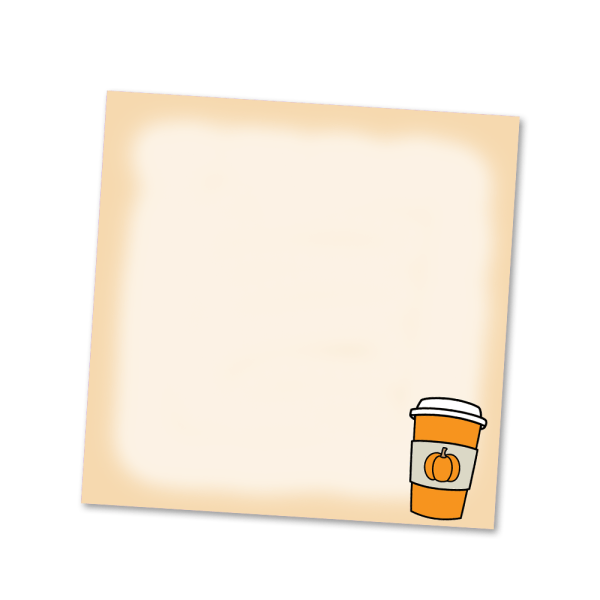 Pumpkin Spice Sticky Notes