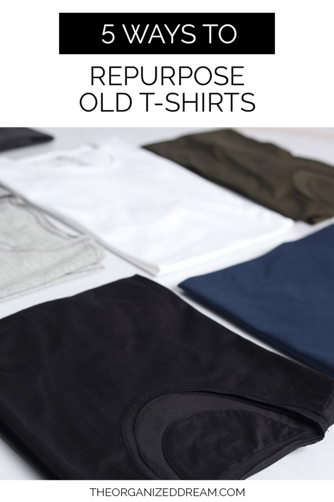 5 Ways To Repurpose Old T-Shirts