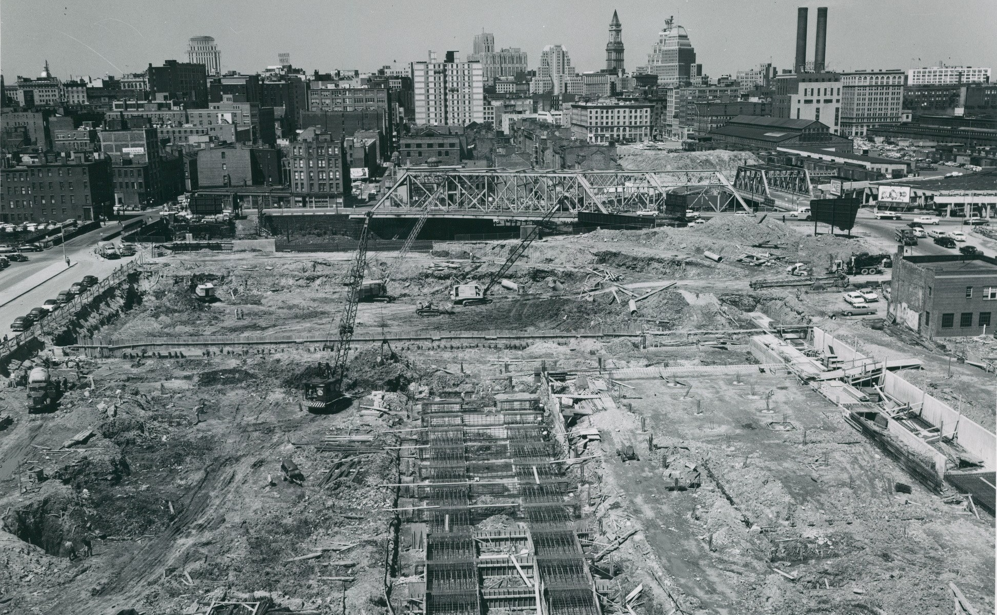 Boston Housing Authority Urban Redevelopment Division. Taken from 39 Troy Street May 23 1958.