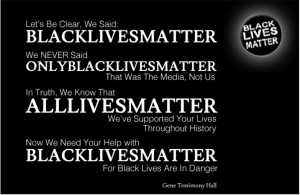 Black Lives Matter statement