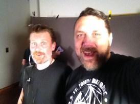 Todd Robinson and me on set