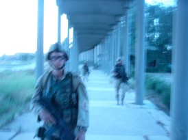 Us out on patrol during a movement to contact