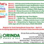 Orinda Parks & Rec March 2019