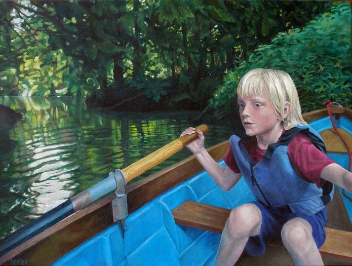 "Contributed PhotoNicole Reader's Rowing, a 30"" x 40"" acrylic on canvas"