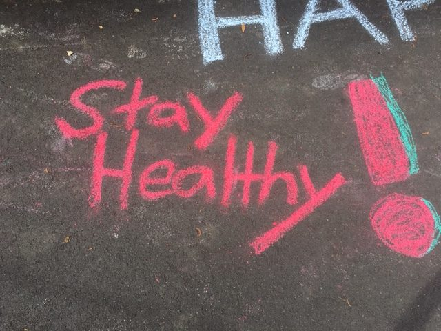 (Mimi Bommarito, Photographer)Cheerful chalked messages brighten local streets.