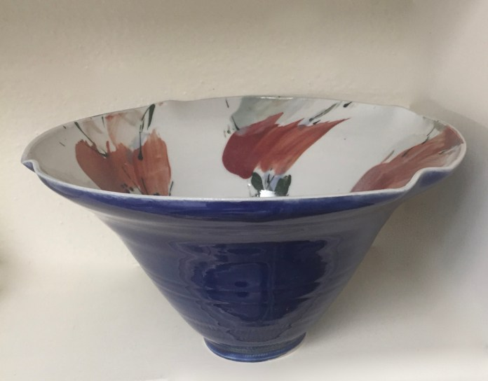 (Contributed Photo)Cobalt Blue Bowl with Flowers I  by Jacqueline Proulx.