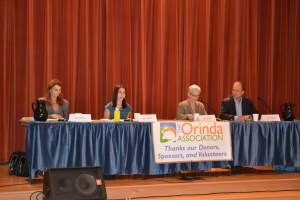 (Sally Hogarty, Photographer)The Orinda Association sponsors forums on areas of interest for Orinda. The one above was for the 2015 Orinda Union School Board election.