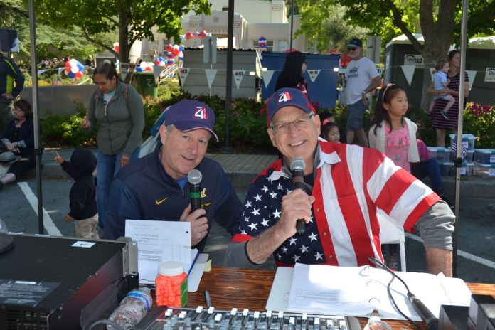 (Sally Hogarty, Photographer)Scott Butler (L) and Steve Harwood will emcee the parade on the Village Side.