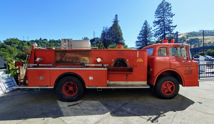 (Grant Wurgley, Photographer) This former firetruck, owned by Michael Karp of The Fourth Bore and Forge Handcrafted Pizza, has a new life for food and beverage services, specializing in wood-fired pizza.