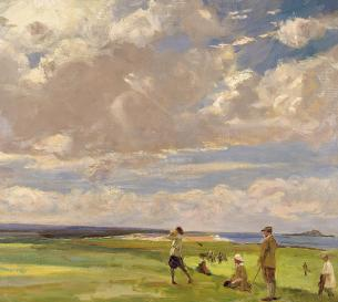 John_Lavery_-_Lady_Astor_playing_golf_at_North_Berwick