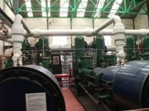 Inside the pumping station/visitor centre closed now for refurbishment