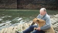 Local Resident Arthur Robertson at Clouston's Noust (F Grahame)