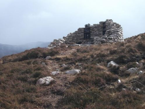 Lotte has built this pretend broch at her croft at Loch Eriboll B Bell