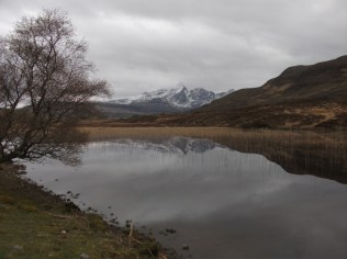The mountain by the lake on Skye B Bell