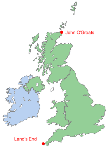 Lands End to John O' Groats