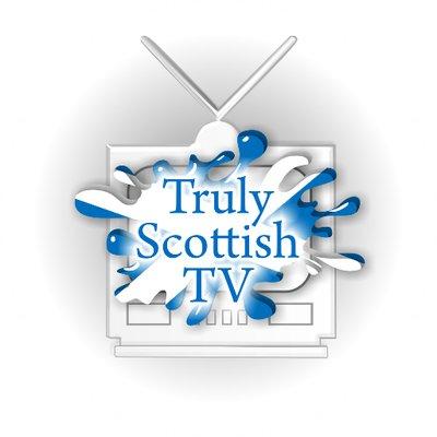 The Truly Scottish TV logo featuring a Saltire splash.