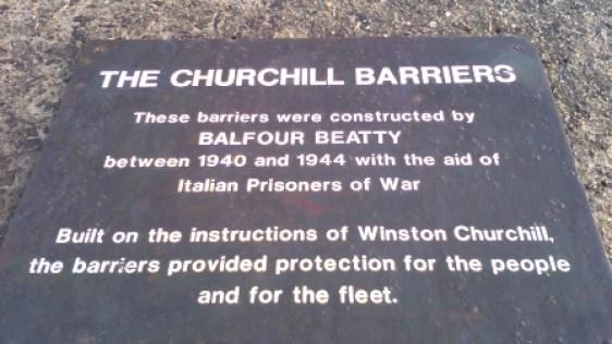 Churchill Barriers B Bell